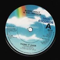 BUDDY HOLLY Think It Over Vinyl Record 7 Inch MCA 1984